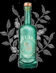 Image of a green bottle of  Bullard's London Dry Gin